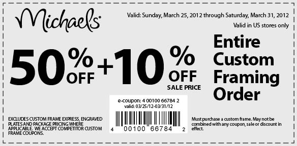 Michaels crafts coupons framing for Michaels craft store memphis tn
